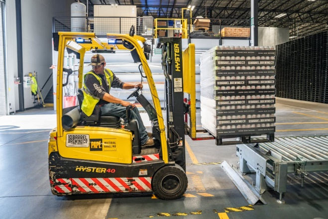 Person using forklift - human performance improvement